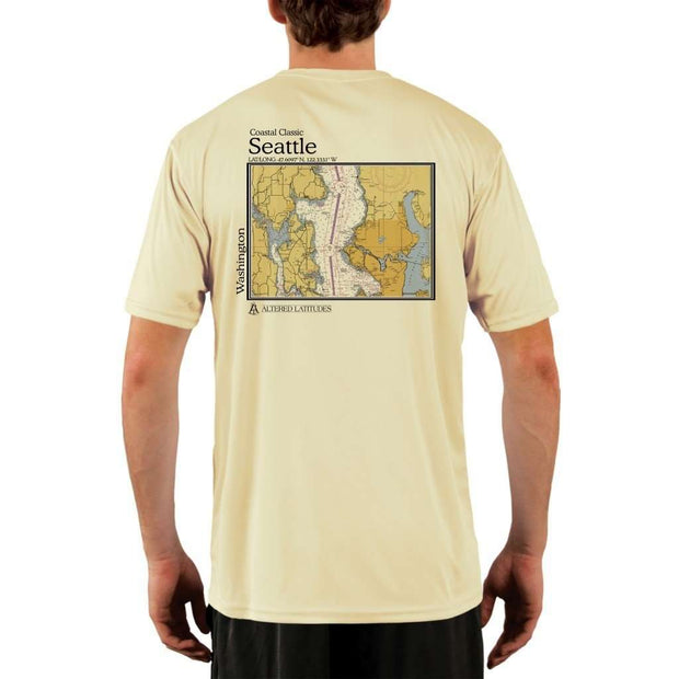 Coastal Classics Seattle Mens Upf 5+ Uv/sun Protection Performance T-Shirt Pale Yellow / X-Small Shirt
