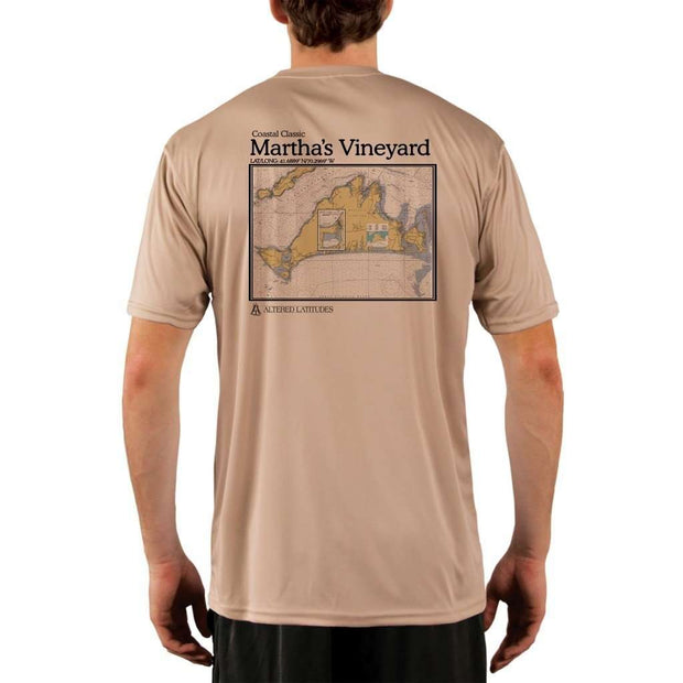 Coastal Classics Marthas Vineyard Mens Upf 5+ Uv/sun Protection Performance T-Shirt Tan / X-Small Shirt