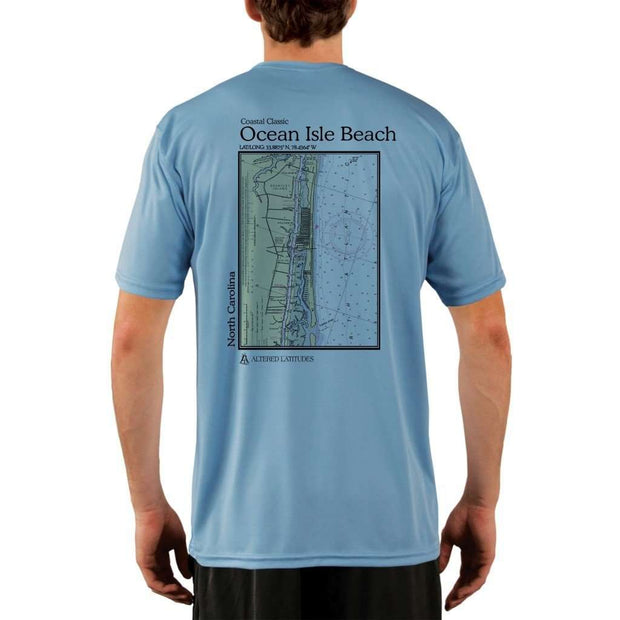 Coastal Classics Ocean Isle Beach Mens Upf 5+ Uv/sun Protection Performance T-Shirt Columbia Blue / X-Small Shirt