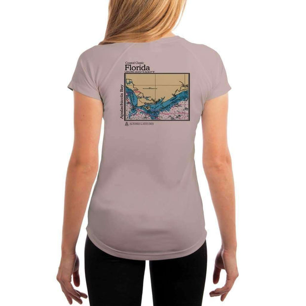 Coastal Classics Apalachicola Bay Womens Upf 5+ Uv/sun Protection Performance T-Shirt Athletic Grey / X-Small Shirt