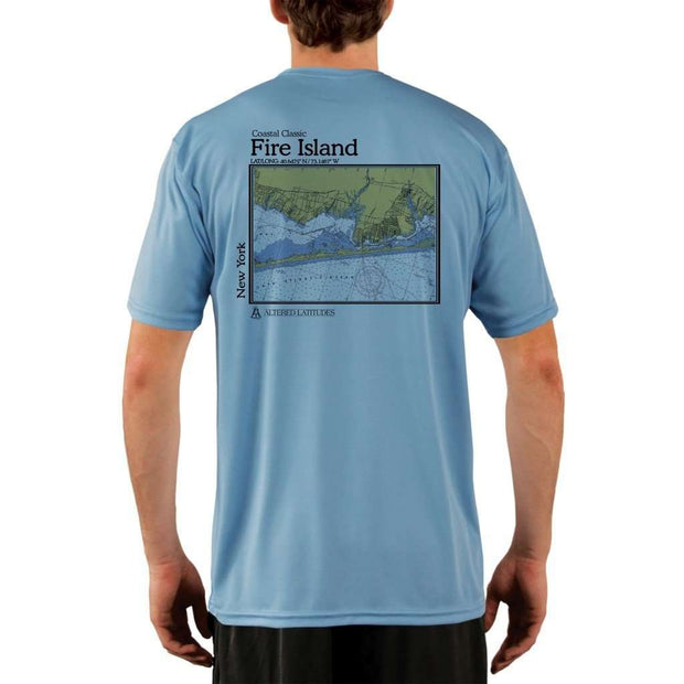Coastal Classics Fire Island Mens Upf 5+ Uv/sun Protection Performance T-Shirt Columbia Blue / X-Small Shirt