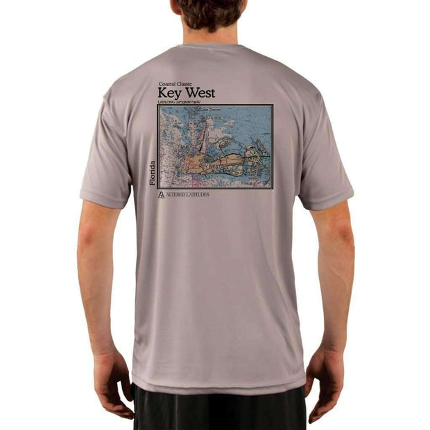 Coastal Classics Key West Mens Upf 5+ Uv/sun Protection Performance T-Shirt Athletic Grey / X-Small Shirt