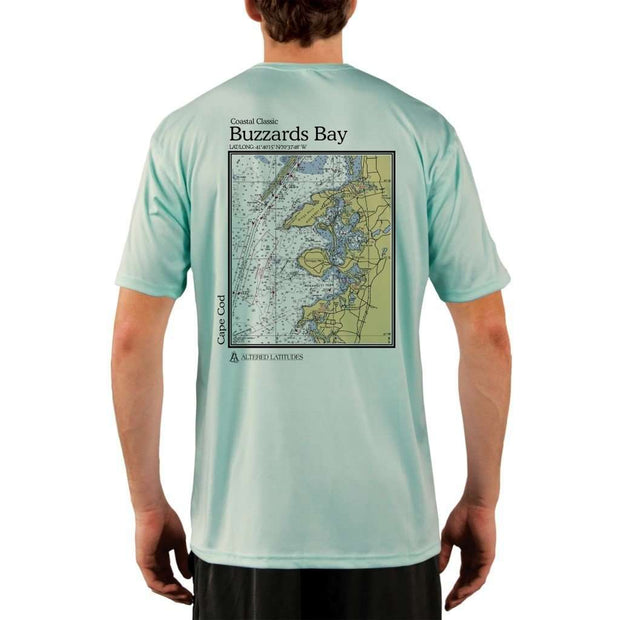 Coastal Classics Buzzards Bay Mens Upf 5+ Uv/sun Protection Performance T-Shirt Seagrass / X-Small Shirt