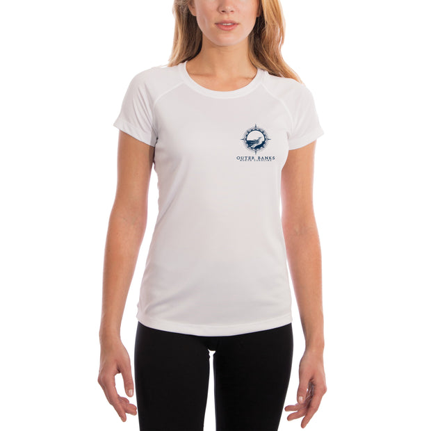 Compass Vintage Outer Banks Women's UPF 50+ Short Sleeve T-shirt
