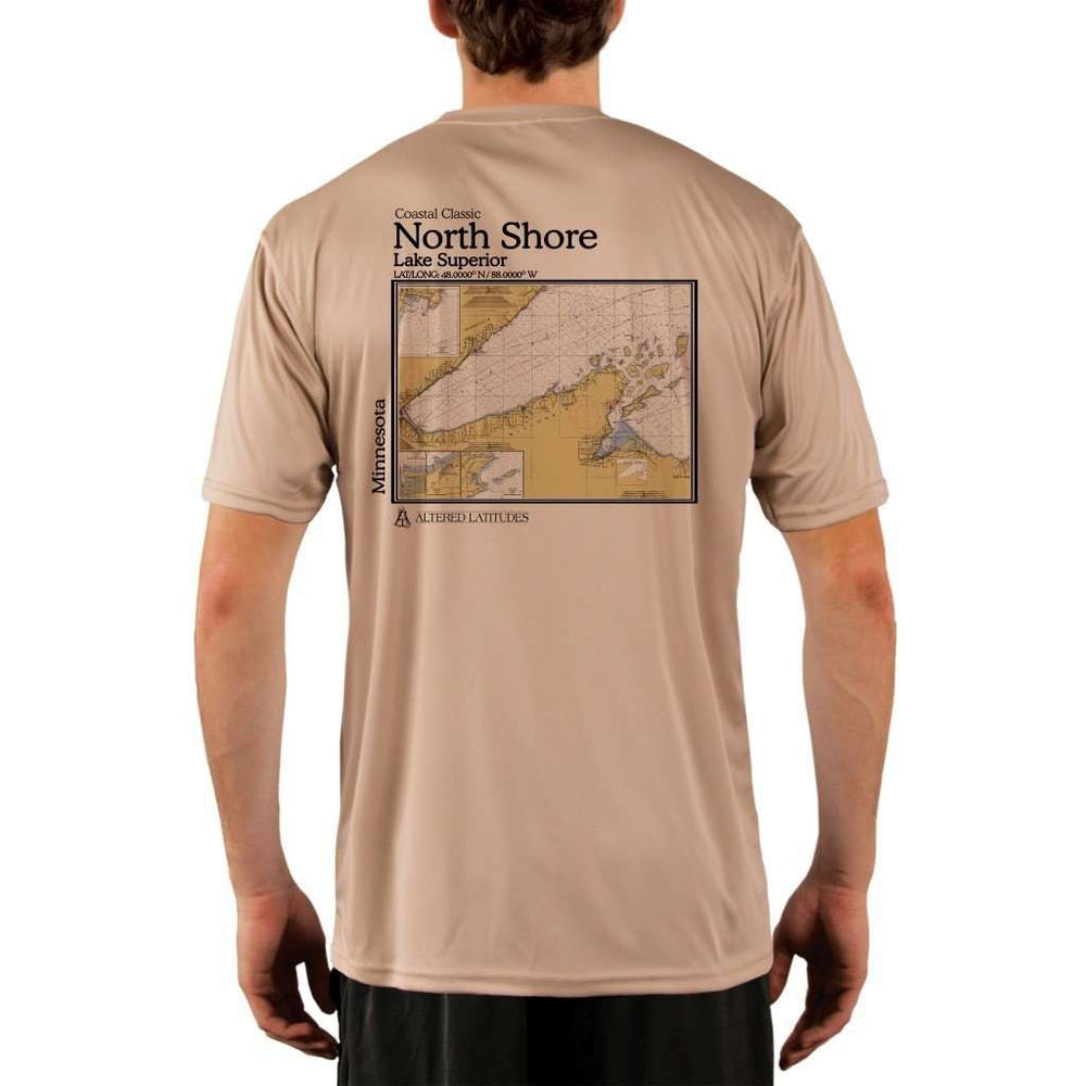 Coastal Classics North Shore Mens Upf 5+ Uv/sun Protection Performance T-Shirt Tan / X-Small Shirt