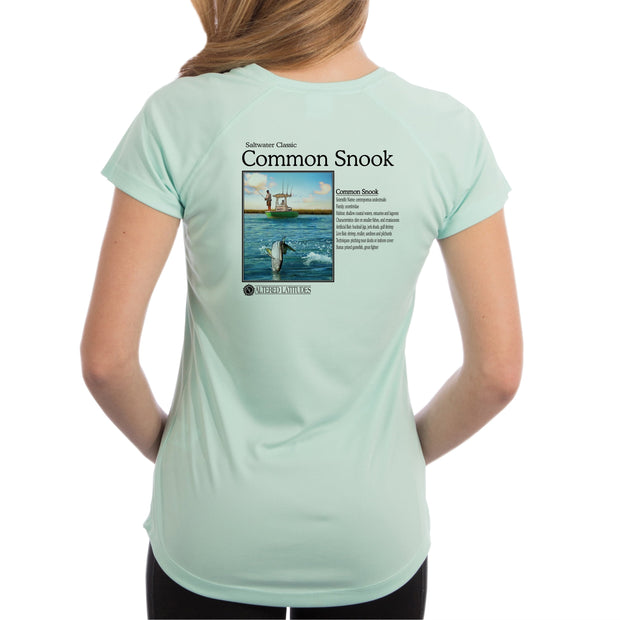 Altered Latitudes Saltwater Classic Snook Women's UPF 50+ UV/Sun Protection Short Sleeve T-Shirt