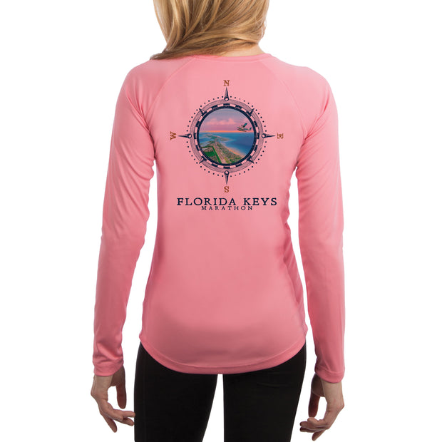 Compass Vintage Florida Keys Women's UPF 50+ Long Sleeve T-shirt