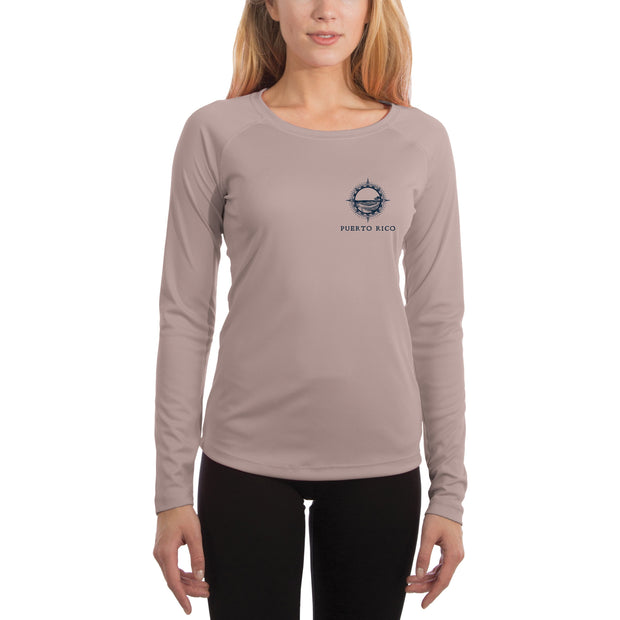 Compass Vintage Puerto Rico Women's UPF 50+ Long Sleeve T-shirt