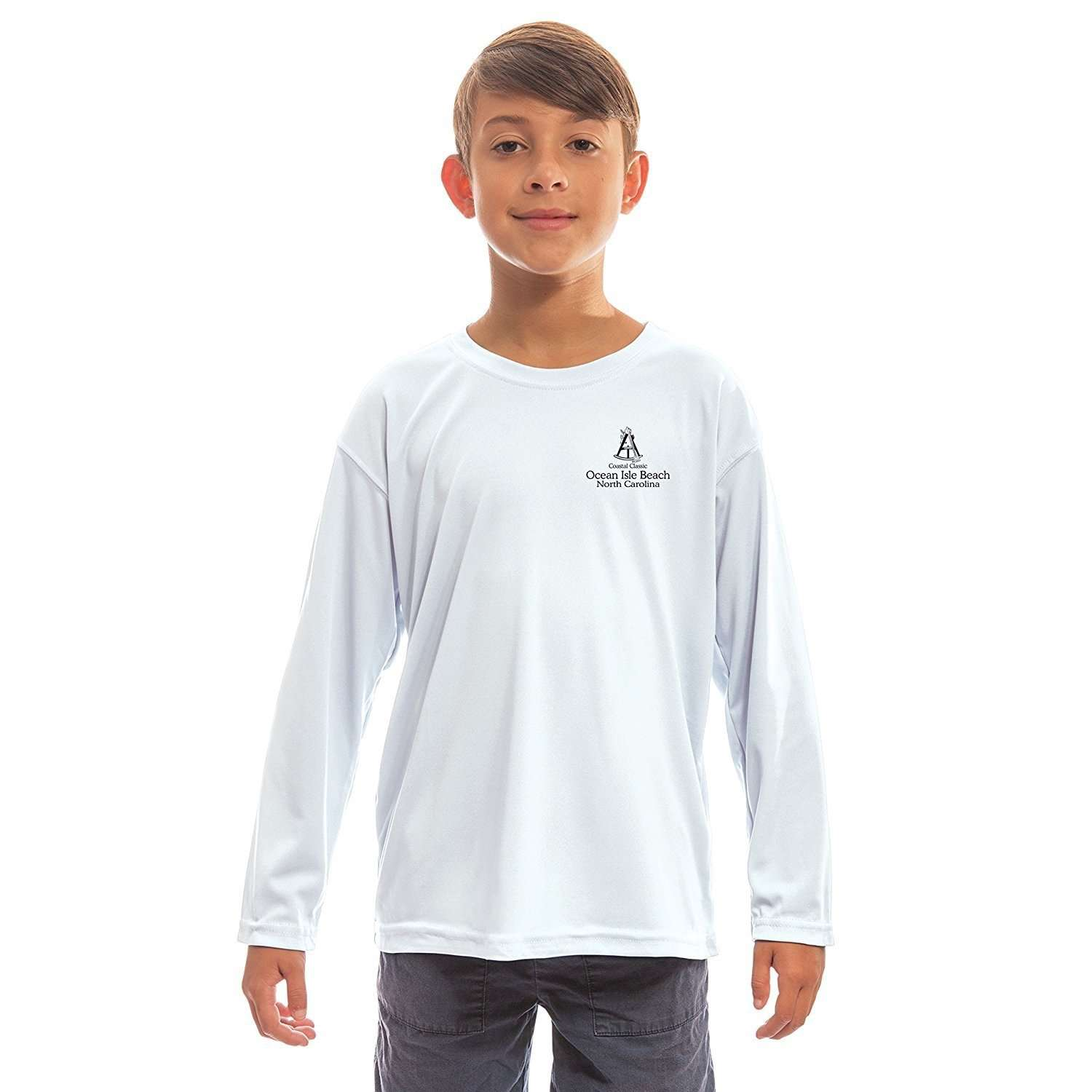 Altered Latitudes Coastal Classics Ocen Isle Beach Youth UPF 5+ UV/Sun Protection Long Sleeve T-Shirt - Altered Latitudes