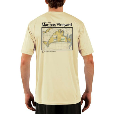 Coastal Classics Marthas Vineyard Mens Upf 5+ Uv/sun Protection Performance T-Shirt Pale Yellow / X-Small Shirt
