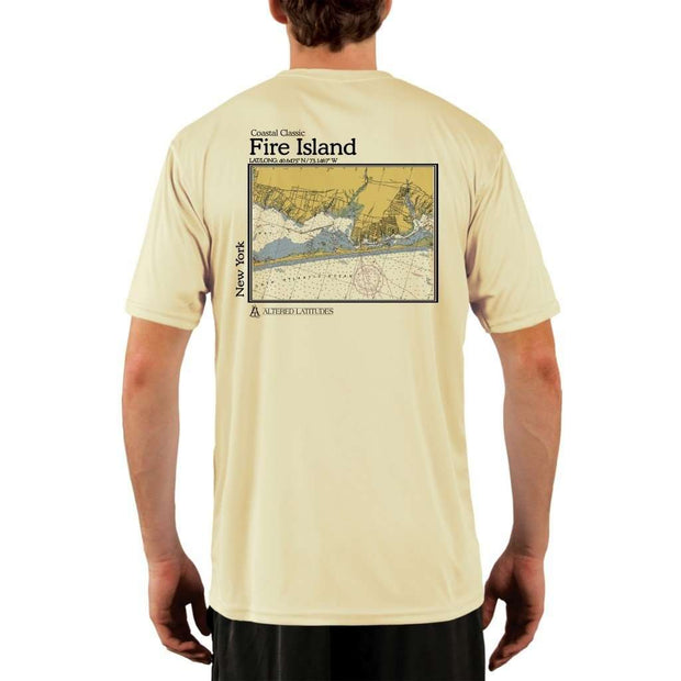 Coastal Classics Fire Island Mens Upf 5+ Uv/sun Protection Performance T-Shirt Pale Yellow / X-Small Shirt