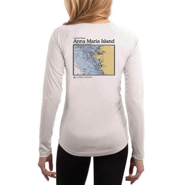 Coastal Classics Anna Maria Island Womens Upf 5+ Uv/sun Protection Performance T-Shirt White / X-Small Shirt