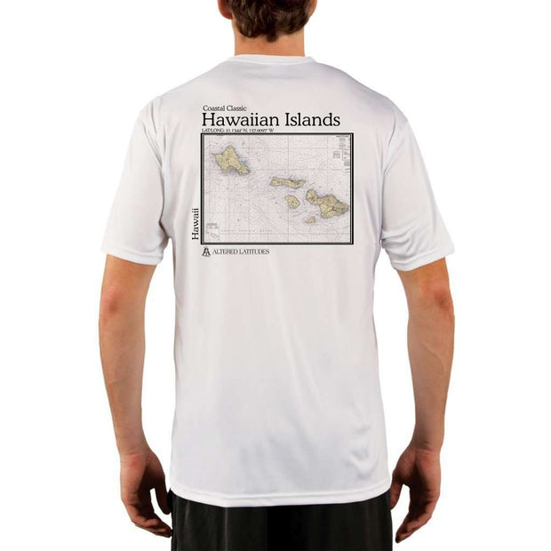 Coastal Classics Hawaiian Islands Mens Upf 5+ Uv/sun Protection Performance T-Shirt White / X-Small Shirt