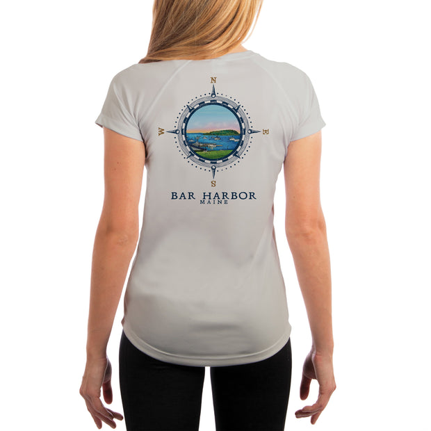 Compass Vintage Bar Harbor Women's UPF 50+ Short Sleeve T-shirt