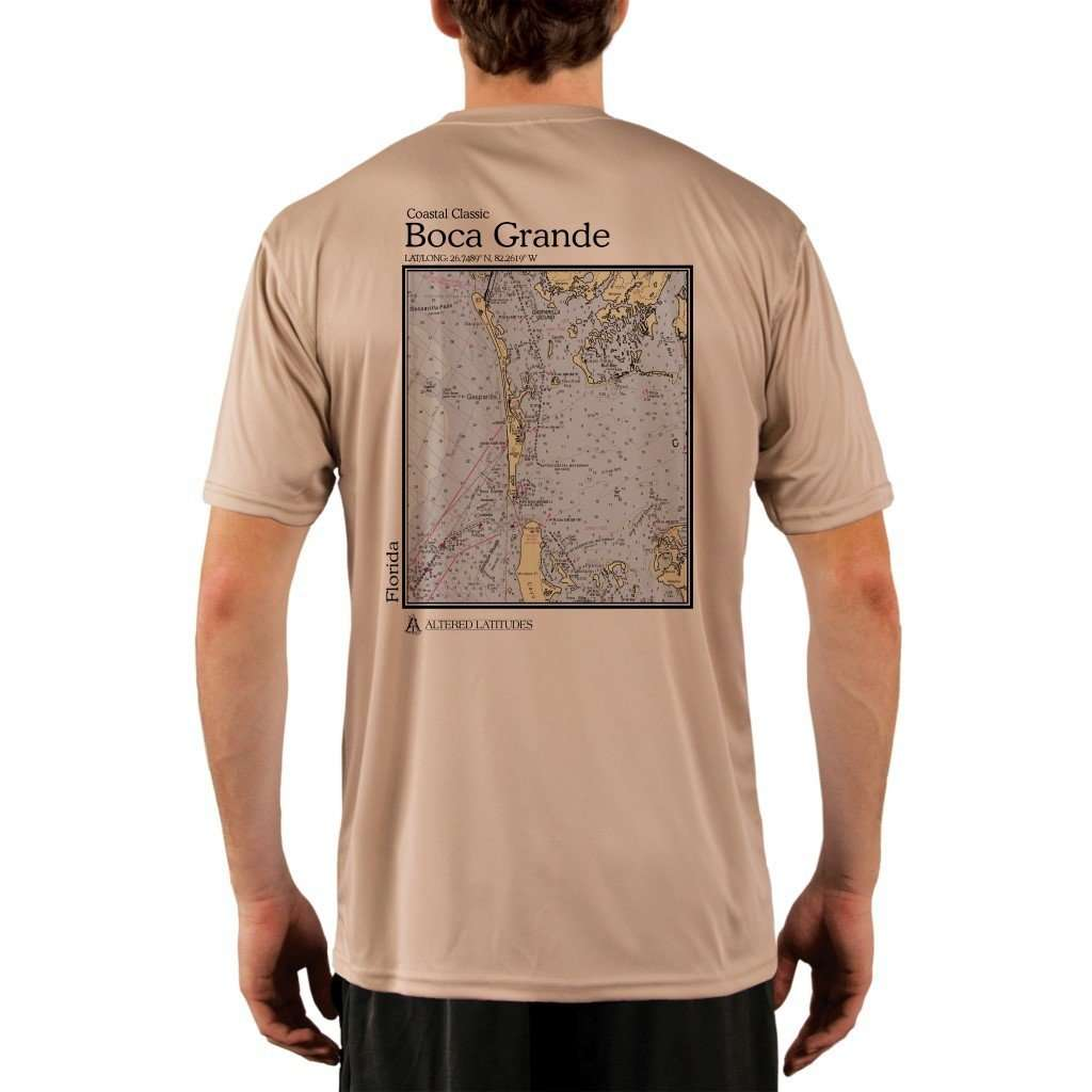 Coastal Classics Boca Grande Mens Upf 50+ Uv/sun Protection Performance T-Shirt Tan / X-Small Shirt