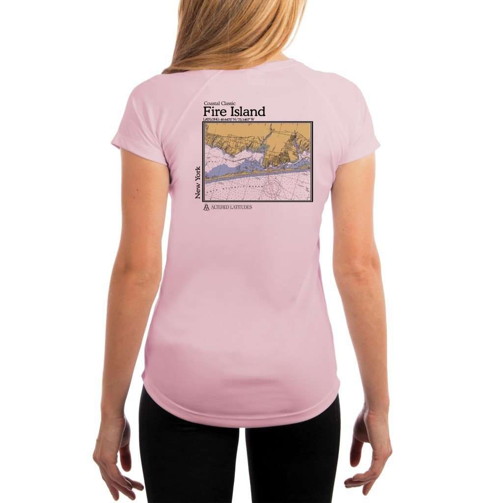 Coastal Classics Fire Island Womens Upf 50+ Uv/sun Protection Performance T-Shirt Pink Blossom / X-Small Shirt