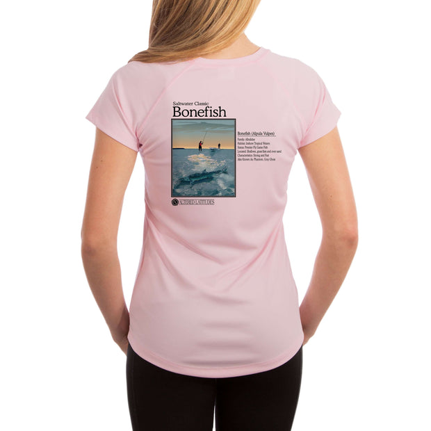 Saltwater Classic Bonefish Women's UPF 50+ UV/Sun Protection Short Sleeve T-Shirt