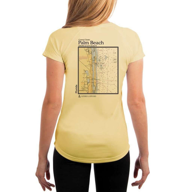 Coastal Classics Palm Beach Womens Upf 5+ Uv/sun Protection Performance T-Shirt Pale Yellow / X-Small Shirt