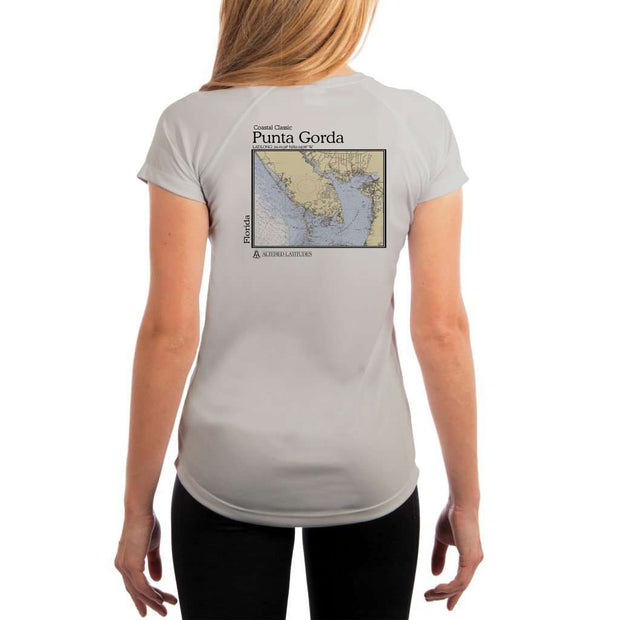 Coastal Classics Punta Gorda Womens Upf 5+ Uv/sun Protection Performance T-Shirt Pearl Grey / X-Small Shirt