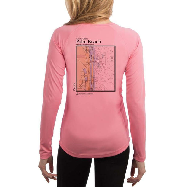 Coastal Classics Palm Beach Womens Upf 5+ Uv/sun Protection Performance T-Shirt Pretty Pink / X-Small Shirt