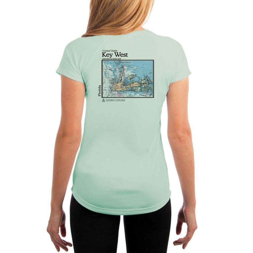 Coastal Classics Key West Womens Upf 5+ Uv/sun Protection Performance T-Shirt Seagrass / X-Small Shirt