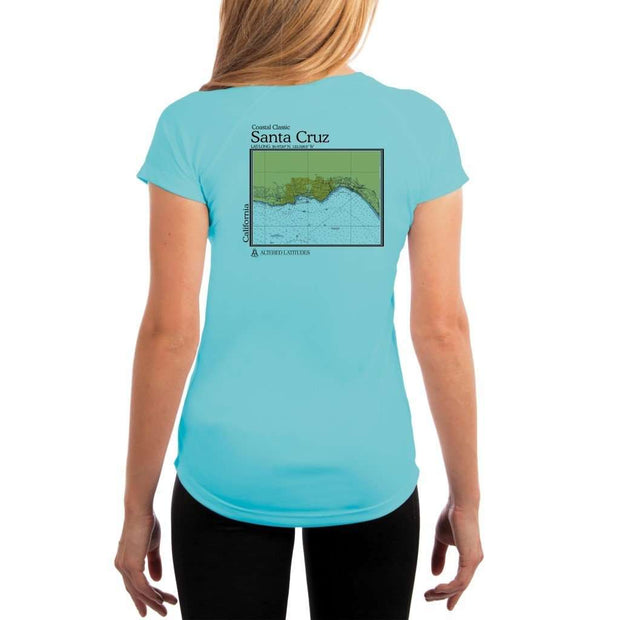 Coastal Classics Santa Cruz Womens Upf 5+ Uv/sun Protection Performance T-Shirt Water Blue / X-Small Shirt