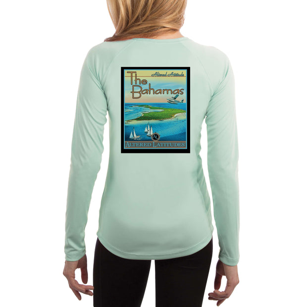 Vintage Destination The Bahamas Women's UPF 50+ UV Sun Protection Long Sleeve T-shirt