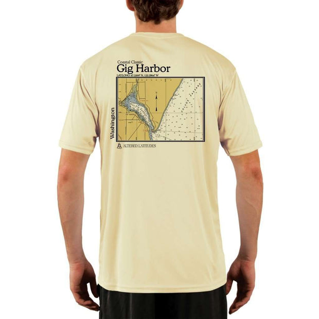 Coastal Classics Gig Harbor Mens Upf 5+ Uv/sun Protection Performance T-Shirt Pale Yellow / X-Small Shirt