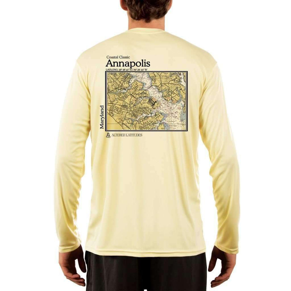 Coastal Classics Annapolis Mens Upf 5+ Uv/sun Protection Performance T-Shirt Pale Yellow / X-Small Shirt