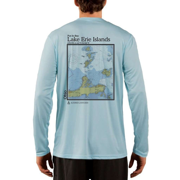 Coastal Classics Lake Erie Islands Mens Upf 5+ Uv/sun Protection Performance T-Shirt Arctic Blue / X-Small Shirt