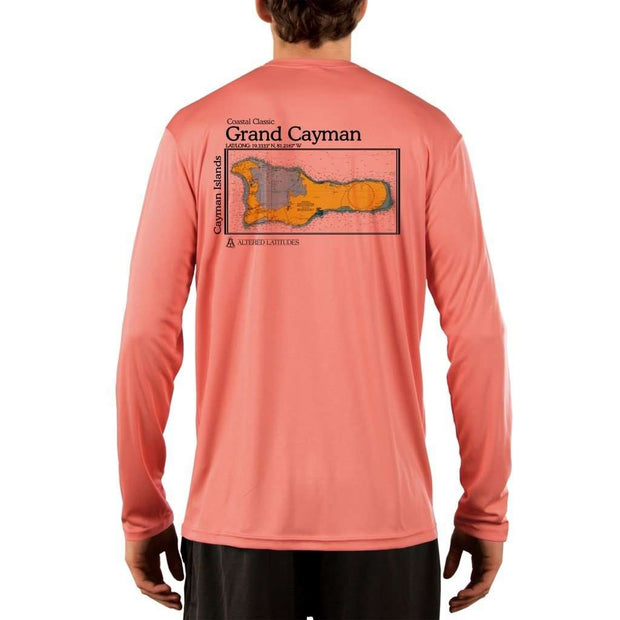 Coastal Classics Grand Cayman Mens Upf 5+ Uv/sun Protection Performance T-Shirt Salmon / X-Small Shirt
