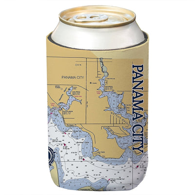 Altered Latitudes Panama City Beach Chart Standard Can Cooler (4-Pack)