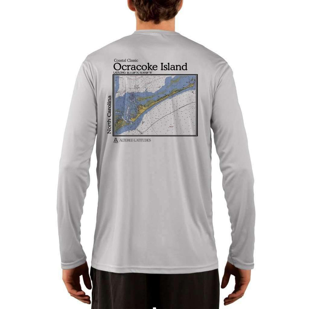 Coastal Classics Ocracoke Island Mens Upf 5+ Uv/sun Protection Performance T-Shirt Pearl Grey / X-Small Shirt