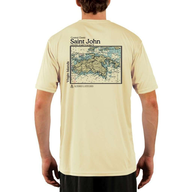 Coastal Classics Saint John Mens Upf 5+ Uv/sun Protection Performance T-Shirt Pale Yellow / X-Small Shirt