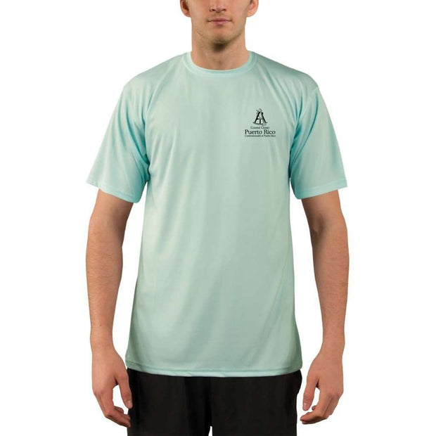 Coastal Classics Puerto Rico Mens Upf 5+ Uv/sun Protection Performance T-Shirt Shirt