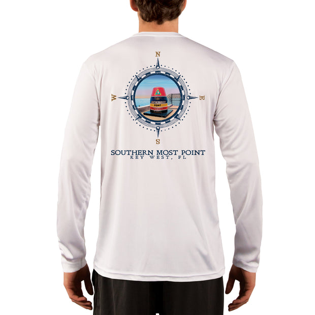 Compass Vintage Southern Most Point Men's UPF 50+ Long Sleeve T-Shirt
