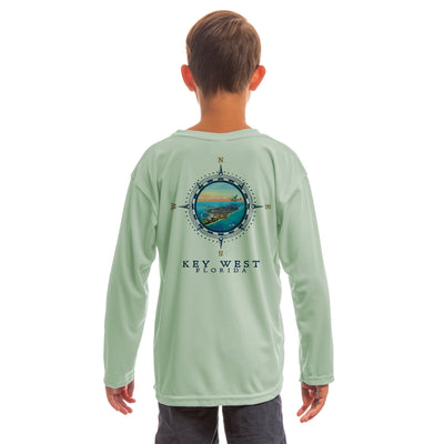 Compass Vintage Key West Youth UPF 50+ UV/Sun Protection Long Sleeve T-Shirt