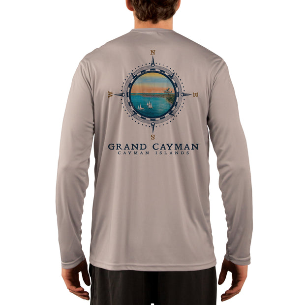 Compass Vintage Grand Cayman Men's UPF 50+ Long Sleeve T-Shirt
