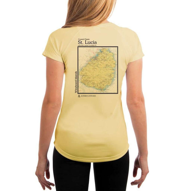 Coastal Classics St. Lucia Womens Upf 5+ Uv/sun Protection Performance T-Shirt Pale Yellow / X-Small Shirt