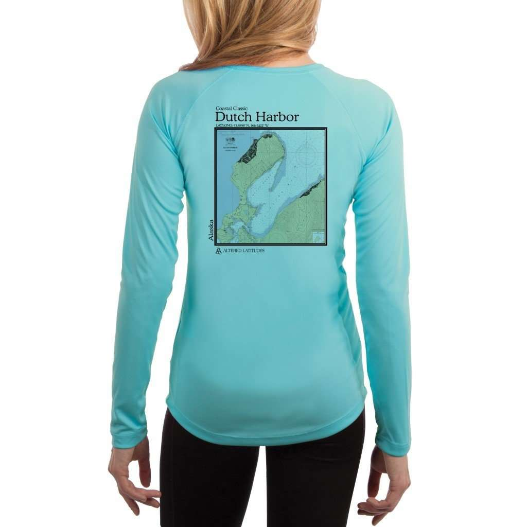 Coastal Classics Dutch Harbor Womens Upf 50+ Uv/sun Protection Performance T-Shirt Water Blue / X-Small Shirt