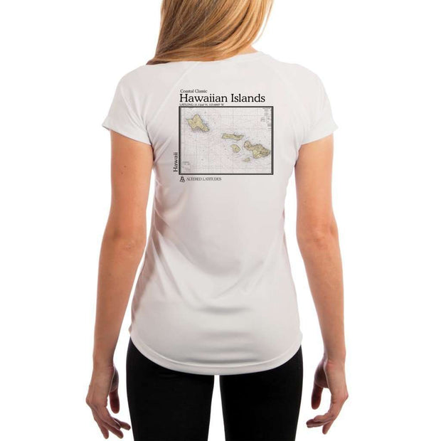 Coastal Classics Hawaiian Islands Womens Upf 5+ Uv/sun Protection Performance T-Shirt White / X-Small Shirt