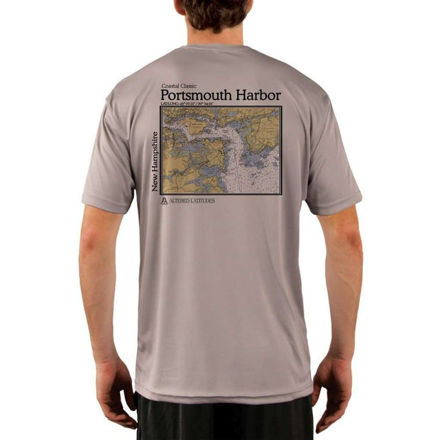 Coastal Classics Portsmouth Harbor Mens Upf 5+ Uv/sun Protection Performance T-Shirt Athletic Grey / X-Small Shirt