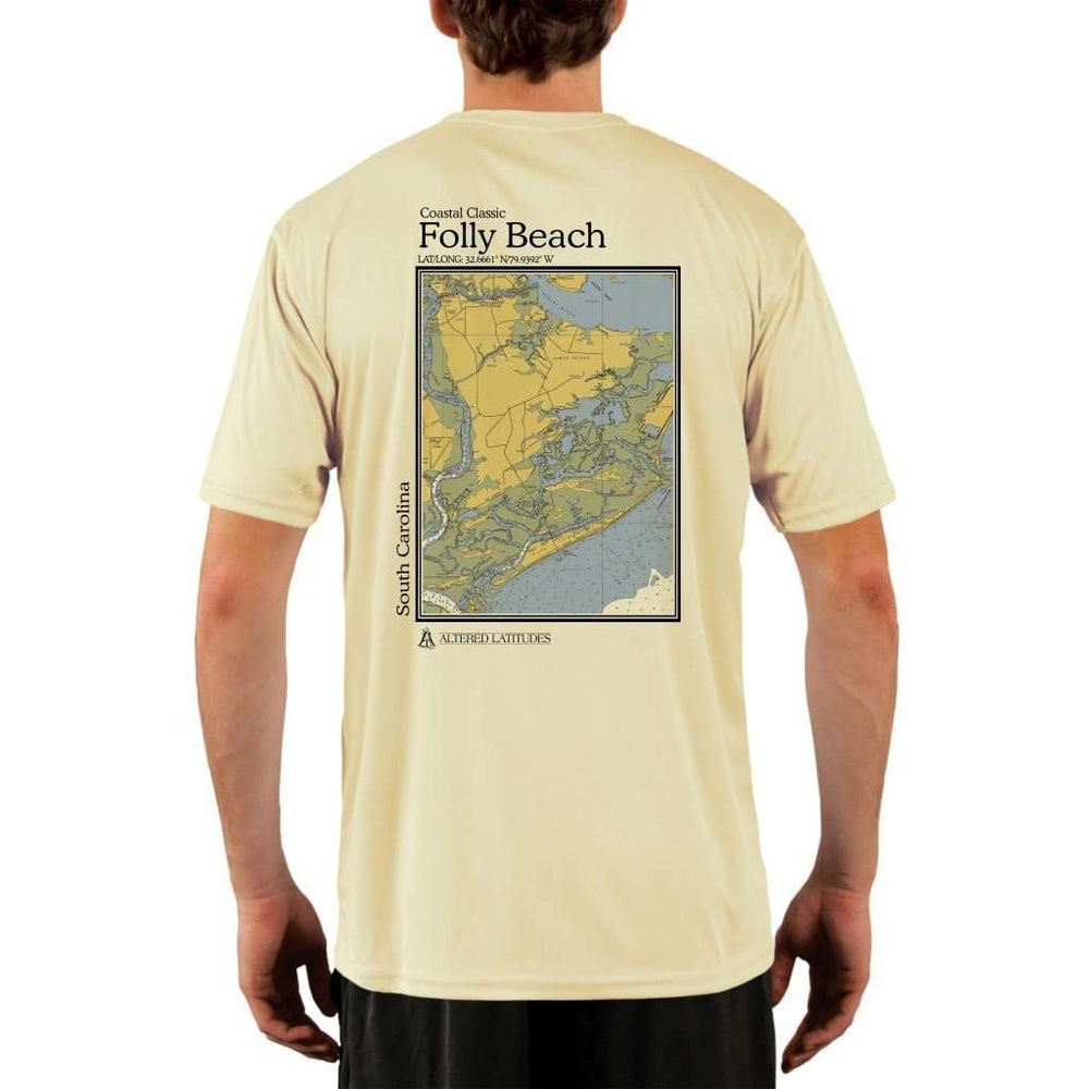 Coastal Classics Folly Beach Mens Upf 5+ Uv/sun Protection Performance T-Shirt Pale Yellow / X-Small Shirt