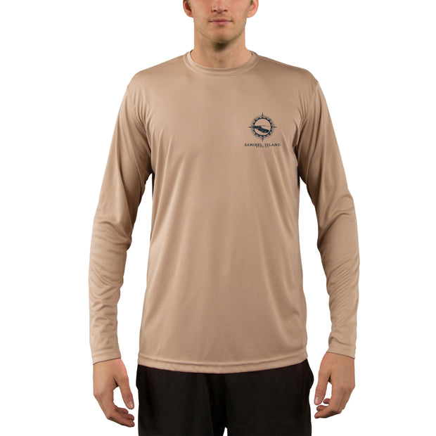 Compass Vintage Sanibel Island Men's UPF 50+ Long Sleeve T-Shirt