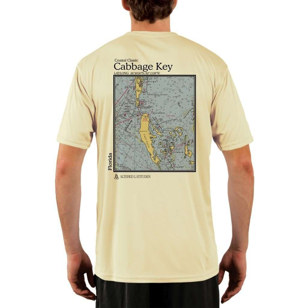 Coastal Classics Cabbage Key Mens Upf 50+ Uv/sun Protection Performance T-Shirt Pale Yellow / X-Small Shirt