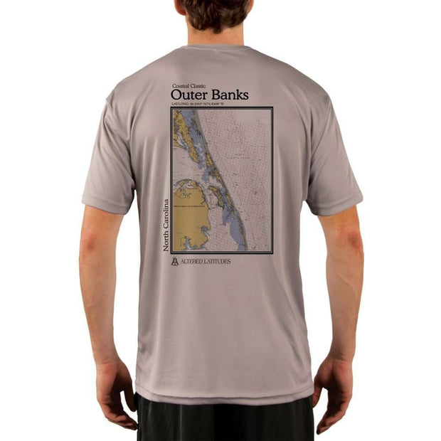 Coastal Classics Outer Banks Mens Upf 5+ Uv/sun Protection Performance T-Shirt Athletic Grey / X-Small Shirt