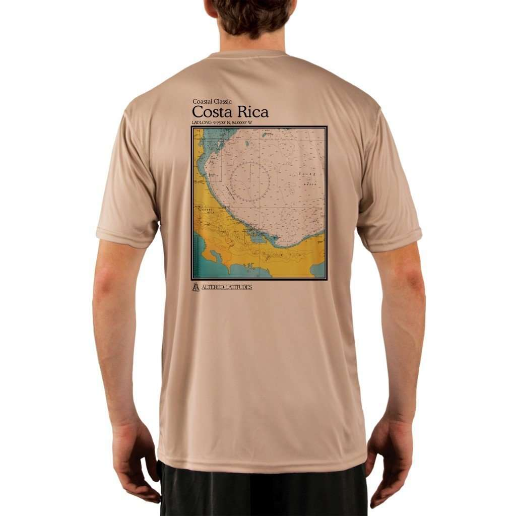 Coastal Classics Costa Rica Mens Upf 50+ Uv/sun Protection Performance T-Shirt Tan / X-Small Shirt