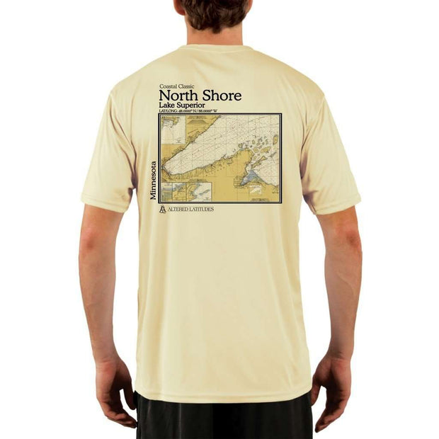 Coastal Classics North Shore Mens Upf 5+ Uv/sun Protection Performance T-Shirt Pale Yellow / X-Small Shirt