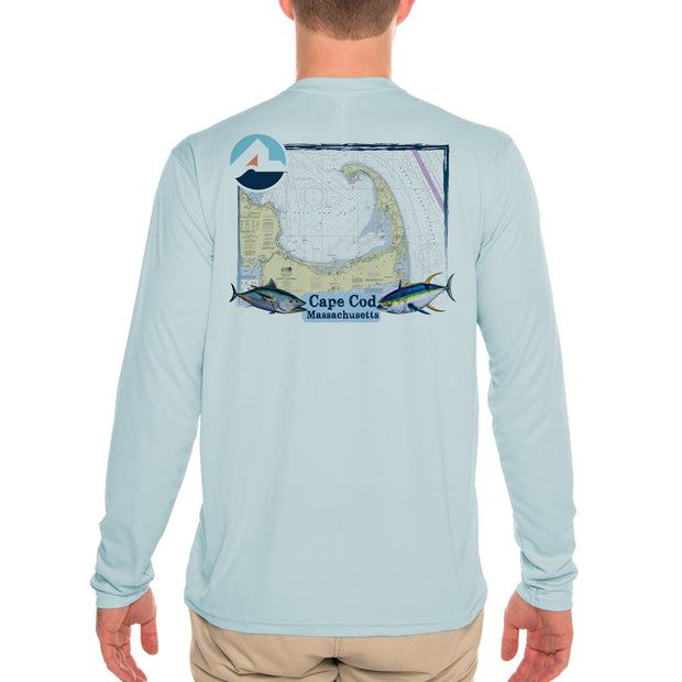 Fish Charts Cape Cod Men's UPF 50+ Long Sleeve T-Shirt