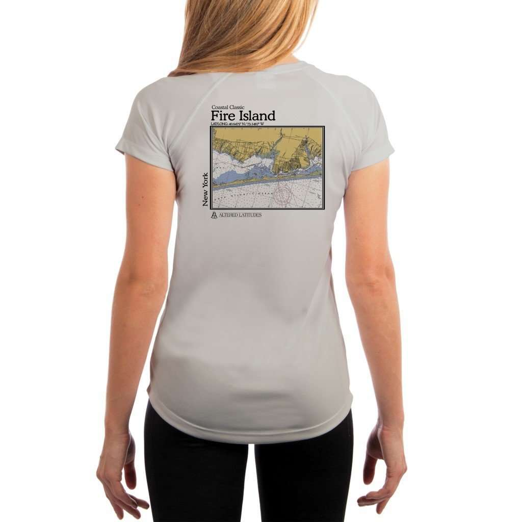 Coastal Classics Fire Island Womens Upf 50+ Uv/sun Protection Performance T-Shirt Pearl Grey / X-Small Shirt